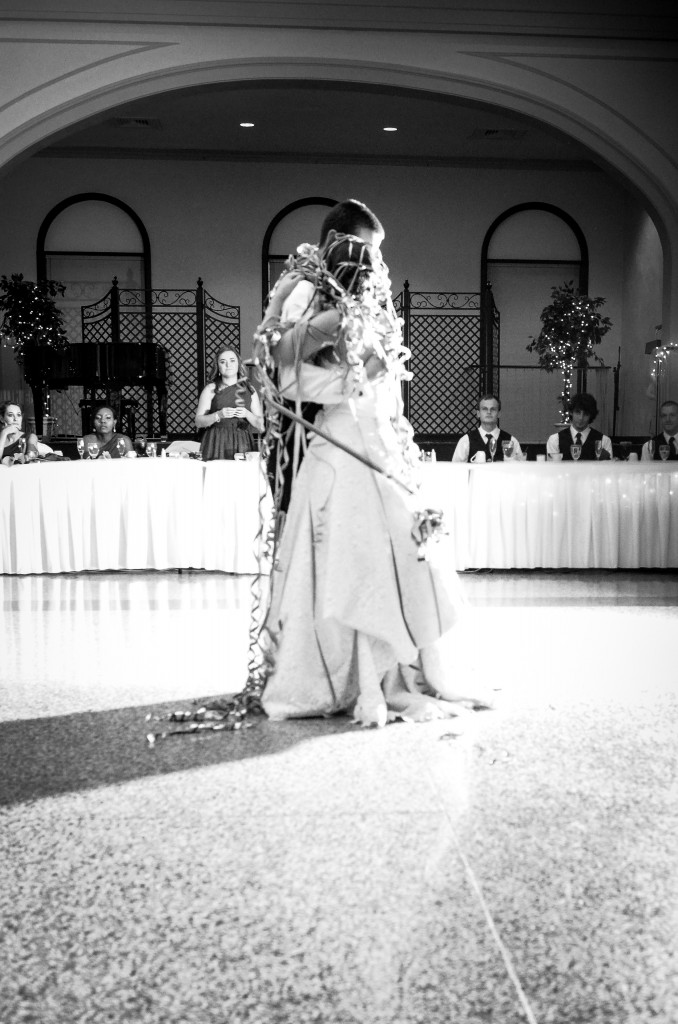 Bride and Groom's first dance.  Taken my Gene Simonalle, Tipp City, Ohio, wedding photographer.