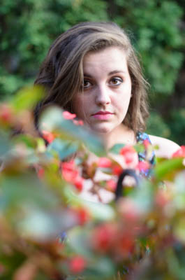 Ashley, senior portrait, high school